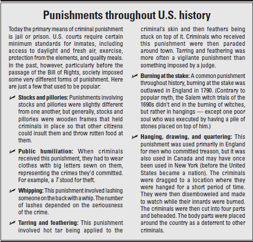 Historical Punishments for Crime in North America