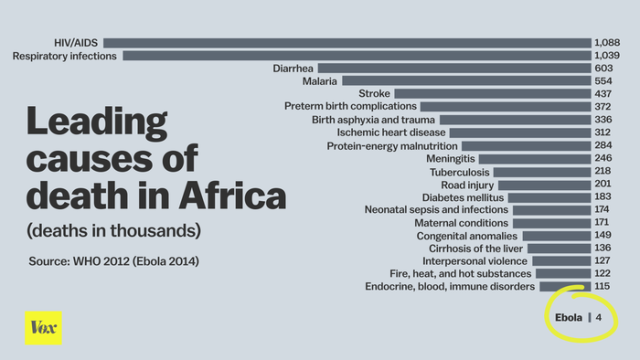 Causes of Death in Africa Source:  Vox (via NBF)