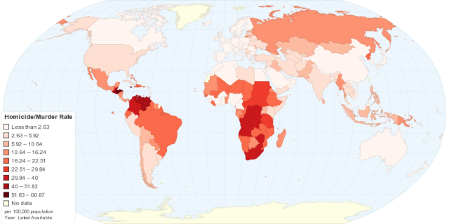Worldwide Homicide Rates http://chartsbin.com/view/1454