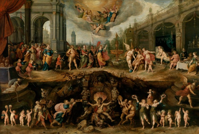 Frans Francken the Younger War Between Heaven and Hell