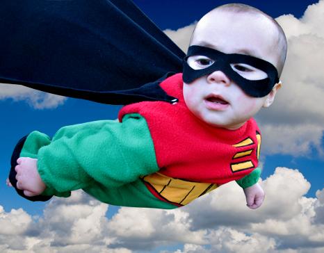 Super Baby Alert http://www.livinglocurto.com/2008/10/super-baby-photoshop-tutorial/