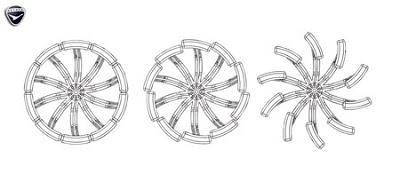 Convertible Hybrid Tire Pavement to Soft Ground to Amphibious Paddlewheel