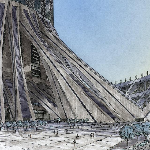 Soleri Hyperbuilding Closeup http://farmermichel.typepad.com/blog/2013/05/paolo-soleri-and-the-cities-of-the-future.html