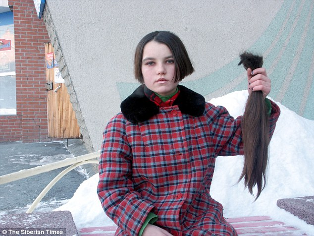 13 yo Valentina Sold Her Hair for Food After Running Away from Home http://www.dailymail.co.uk/news/article-3070094/Pictured-exploited-girls-children-paid-little-20-360-Russian-virgin-hair-extensions-doing-roaring-trade-salons-UK-US.html