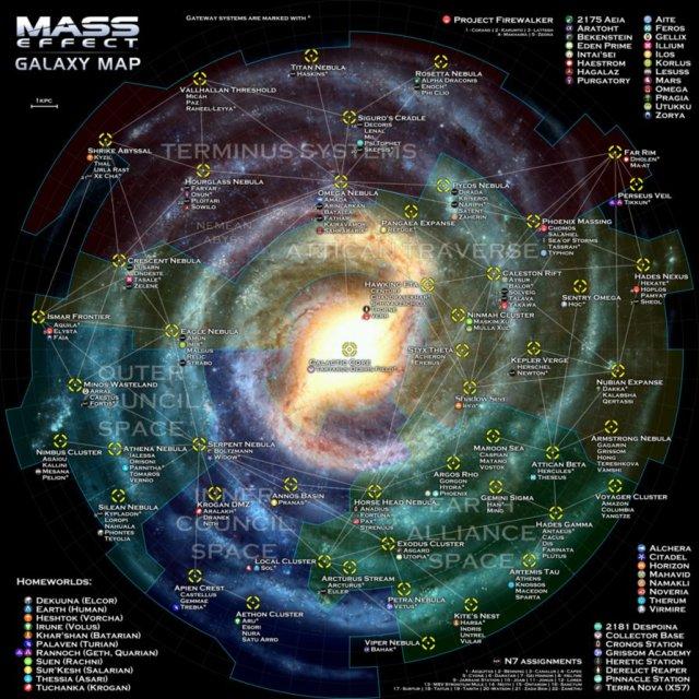 Map of Milky Way Galaxy http://otvert.deviantart.com/art/Mass-Effect-Galaxy-Map-352898039