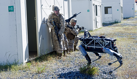 Spot on Point http://www.computerworld.com/article/2985077/robotics/marines-test-googles-latest-military-robot.html