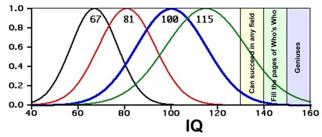 IQ Distributions http://electromontis.net/evoligion/_A/A01.shtml