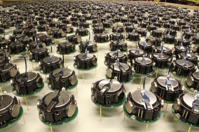 Robot Swarm http://www.wired.com/2014/08/largest-robot-swarm-ever/