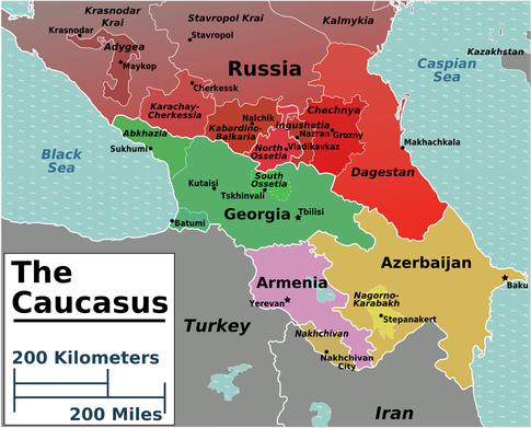 Caucasus: The Hot Zone Wikimedia