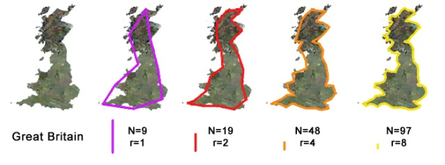 Fractal Coastline UK by Scale Factor http://fractalfoundation.org/OFC/OFC-10-4.html