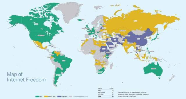 Internet Freedom Map http://dazeinfo.com/2015/01/06/internet-access-censorship-india-usa-china-iran-syria-freedom-declined-report/