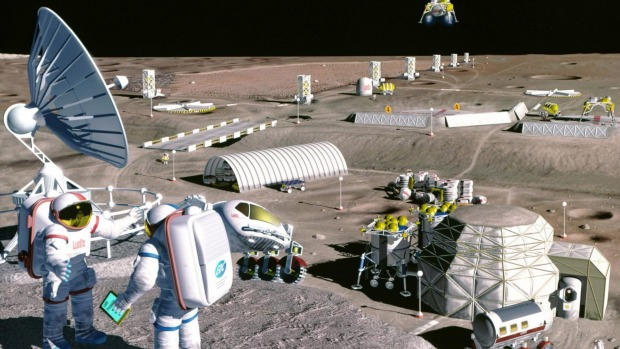 Moonbase Photo: NASA http://www.smh.com.au/world/moon-village-is-best-way-to-replace-international-space-station--esa-head-20160115-gm76ug