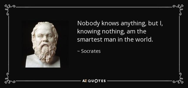 Nobody Knows Nothing Socrates B da Man