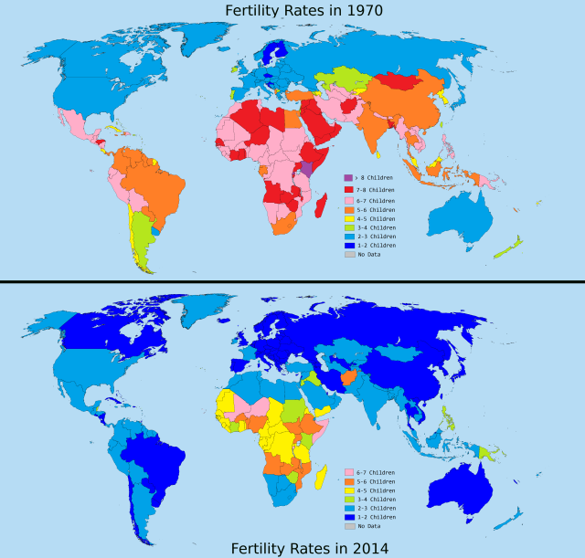 Changing Fertility http://brilliantmaps.com/fertility-rates/