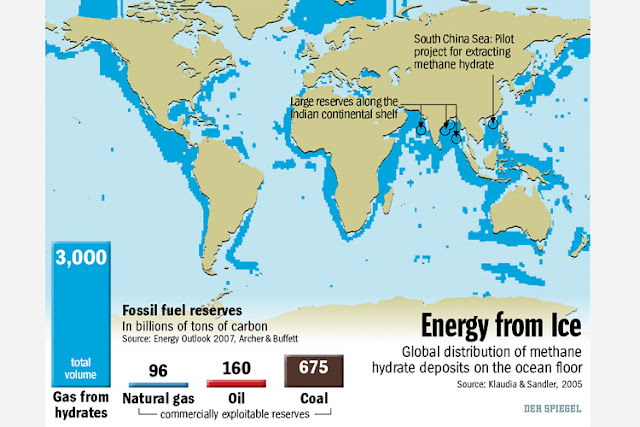 Gas Hydrate Resources Dwarf Other Hydrocarbon Deposits