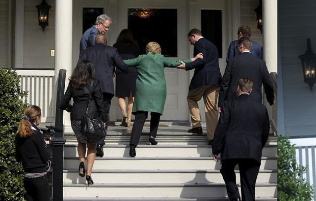 Trouble Climbing Stairs http://prntly.com/2016/08/07/leaked-photo-shows-hillary-needs-help-climbing-the-stairs/