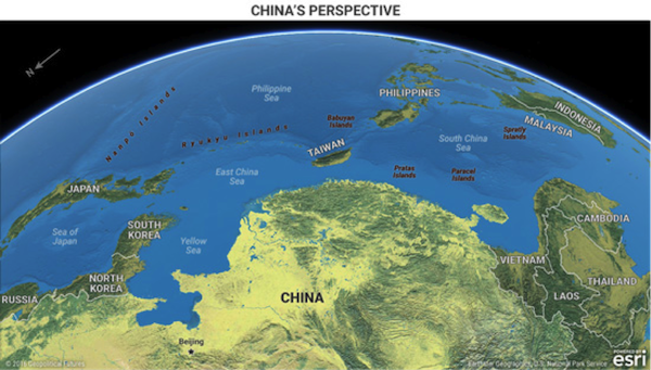 China's Cage, China Seas Image Source