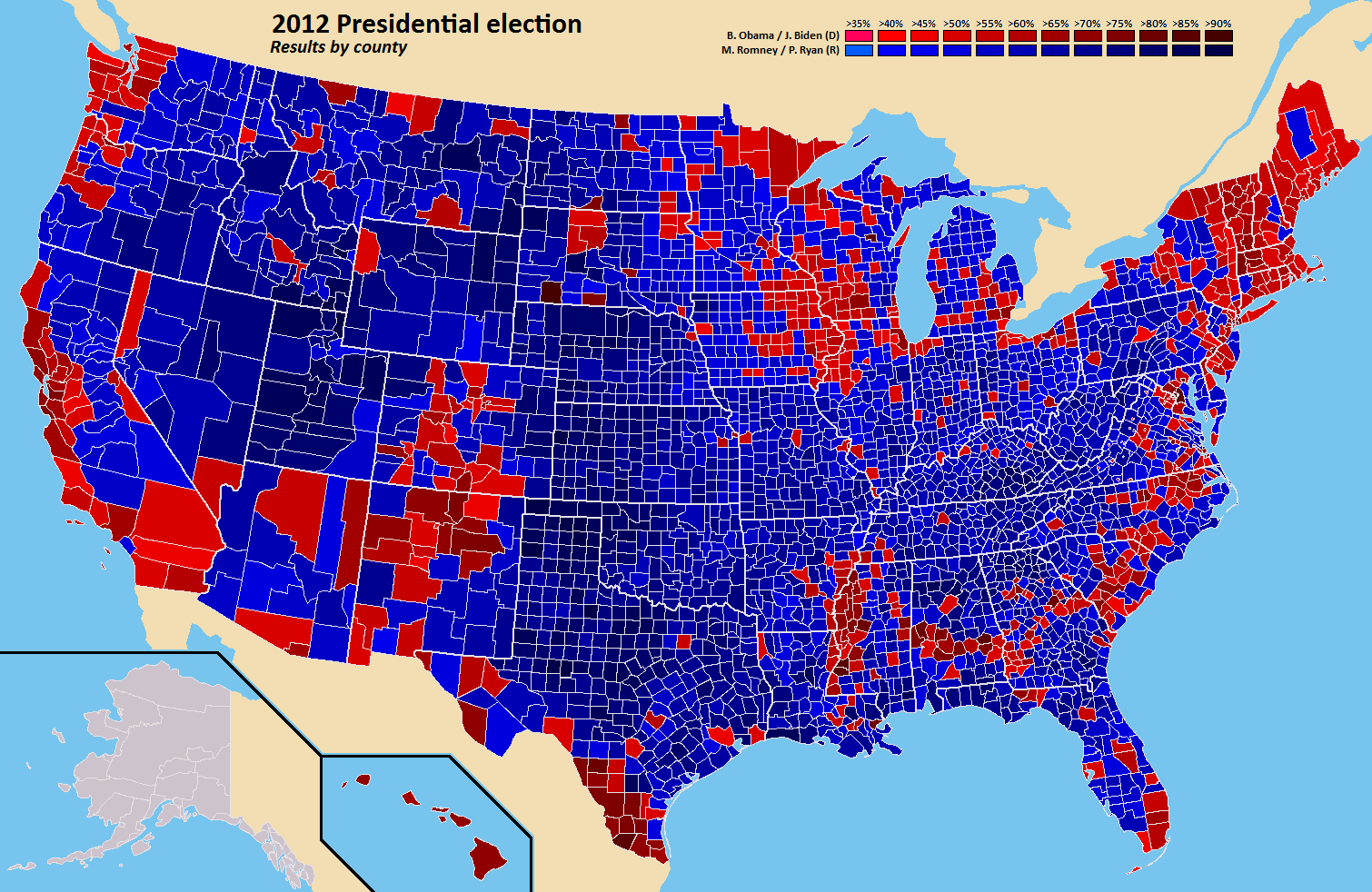 US Murder Map Looking For Visual Correlations Al Fin Next Level - 2016 election results us map by county
