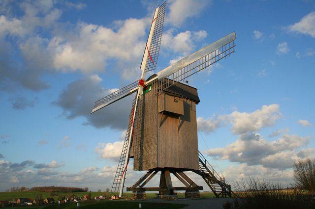 Moulbaix Belgium  the windmill de la Marquise XVII XVIIIth centuries